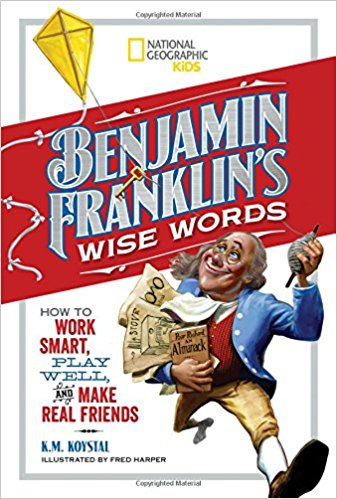 """Discover history through the eyes of one of the smartest, funniest, and coolest figures from America's past. This book presents 50 of Benjamin Franklin's famous """"wise words"""" from Poor Richard's Almanack, his personal letters, and other writings, with sage advice on everything from good citizenship and manners to friendship and being happy. Sayings are paired with hilarious illustrations and witty translations for modern audiences. It's a great go-to for inspirational and innovative ways to practice mindfulness, industriousness, and self-improvement."""
