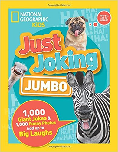 Can't get enough hilarious jokes from National Geographic Kids? Never fear! With this brand-new bigger, better Just Joking book, you'll get loads of laughs to keep you ROFL and to share with friends and family. It's jam-packed with 1,000 jokes, including knock-knocks, puns, riddles, and tongue twisters, plus more than 1,000 photos of cool animals, silly situations, and more! Get hundreds of fun facts about all the coolest creatures and some of the craziest info about the history of funny business. It's the right formula for laughing, learning, and maybe even launching your stand-up comedy career!