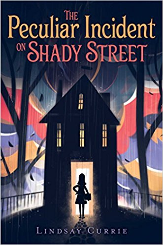 The good kind of scary - Tessa Woodward and her family move from Florida to a real old house in Chicago. Immediately strange things start happening, and Tessa has to deal with that alongside all the regular moving to a new place and school issues. Her brother's doll is particularly creepy as are the rest of the disturbances at her house.Middle Grade Fiction