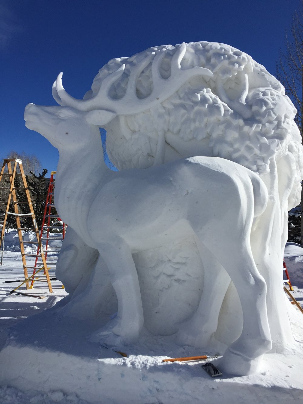 Annual International Snow Sculpting Contest!!