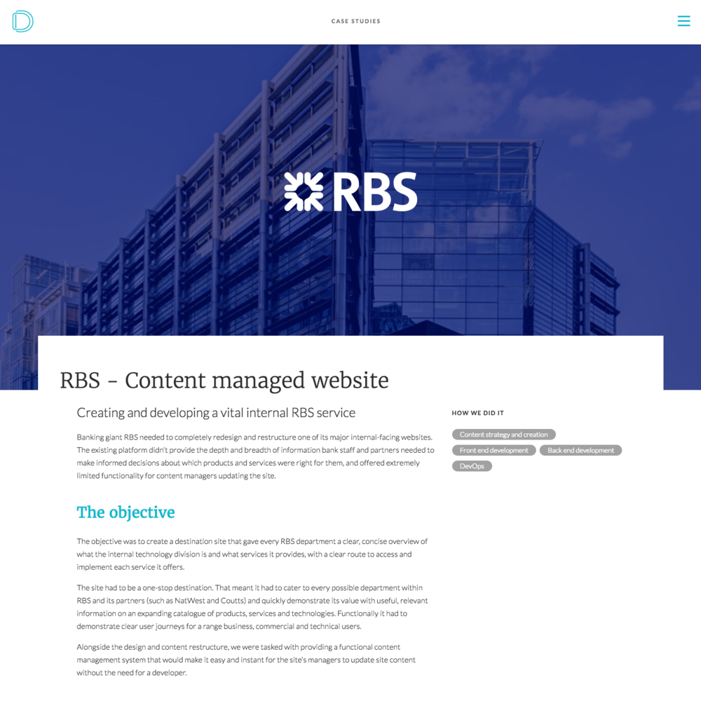 RBS project case study