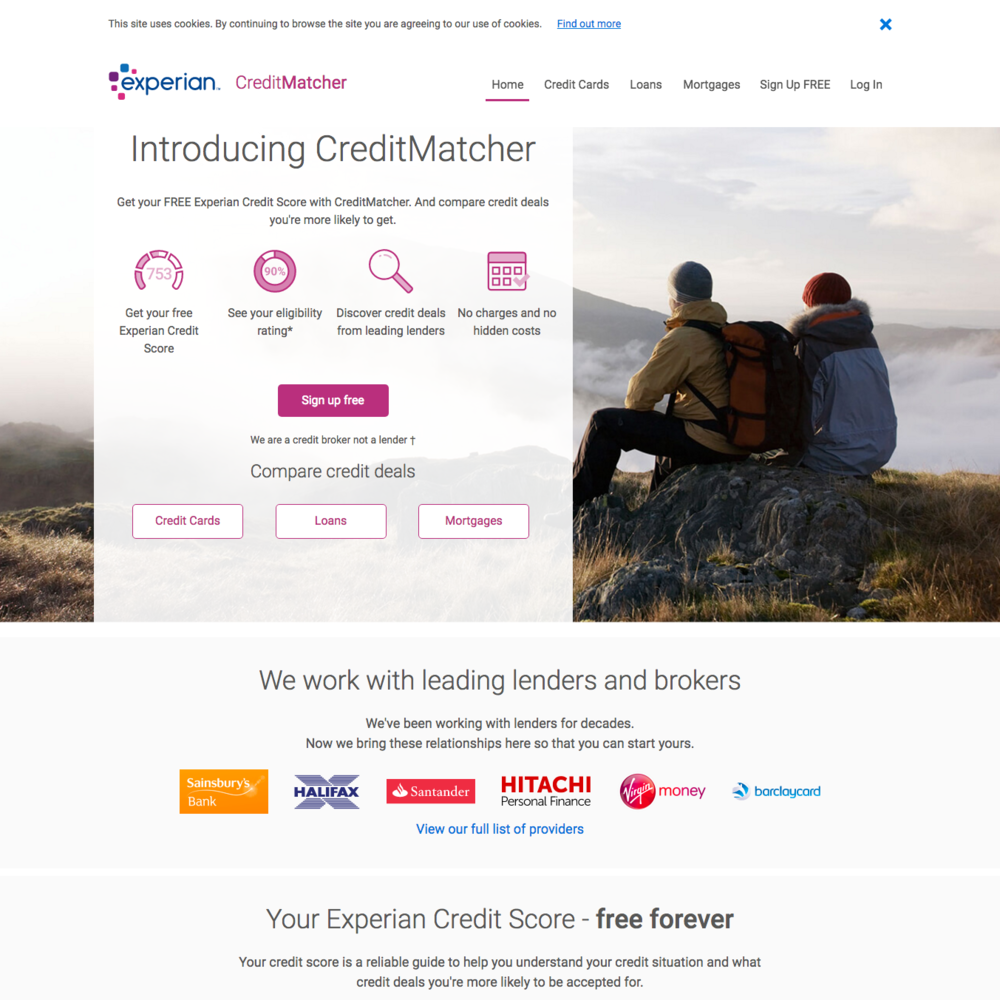 experian homepage