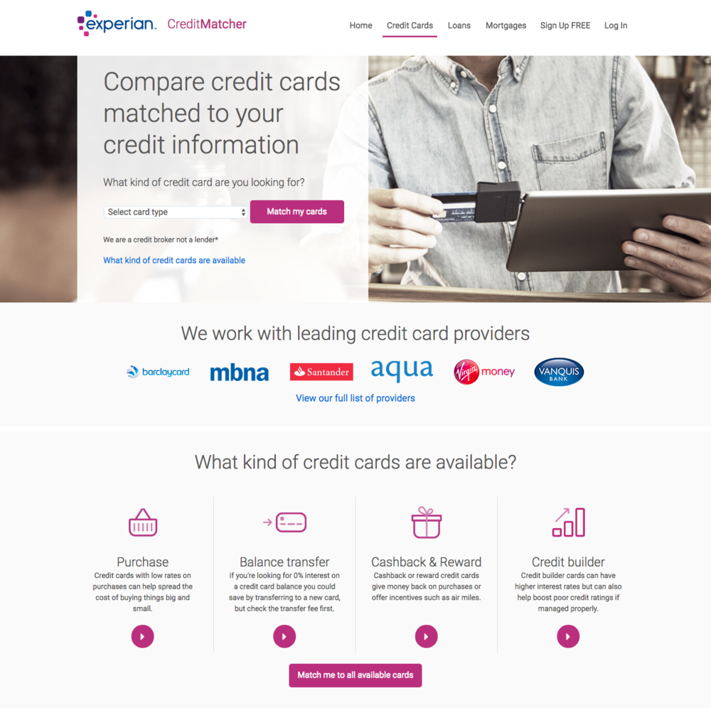 CreditMatcher credit cards