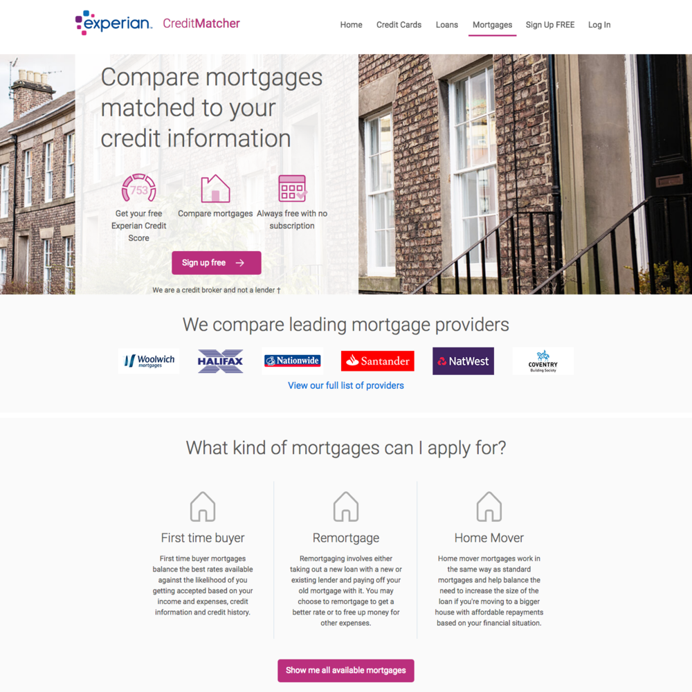 CreditMatcher mortgages