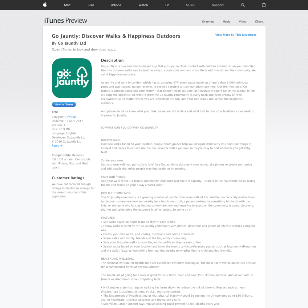 App store page