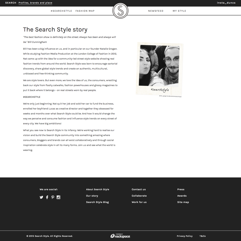 Our story page