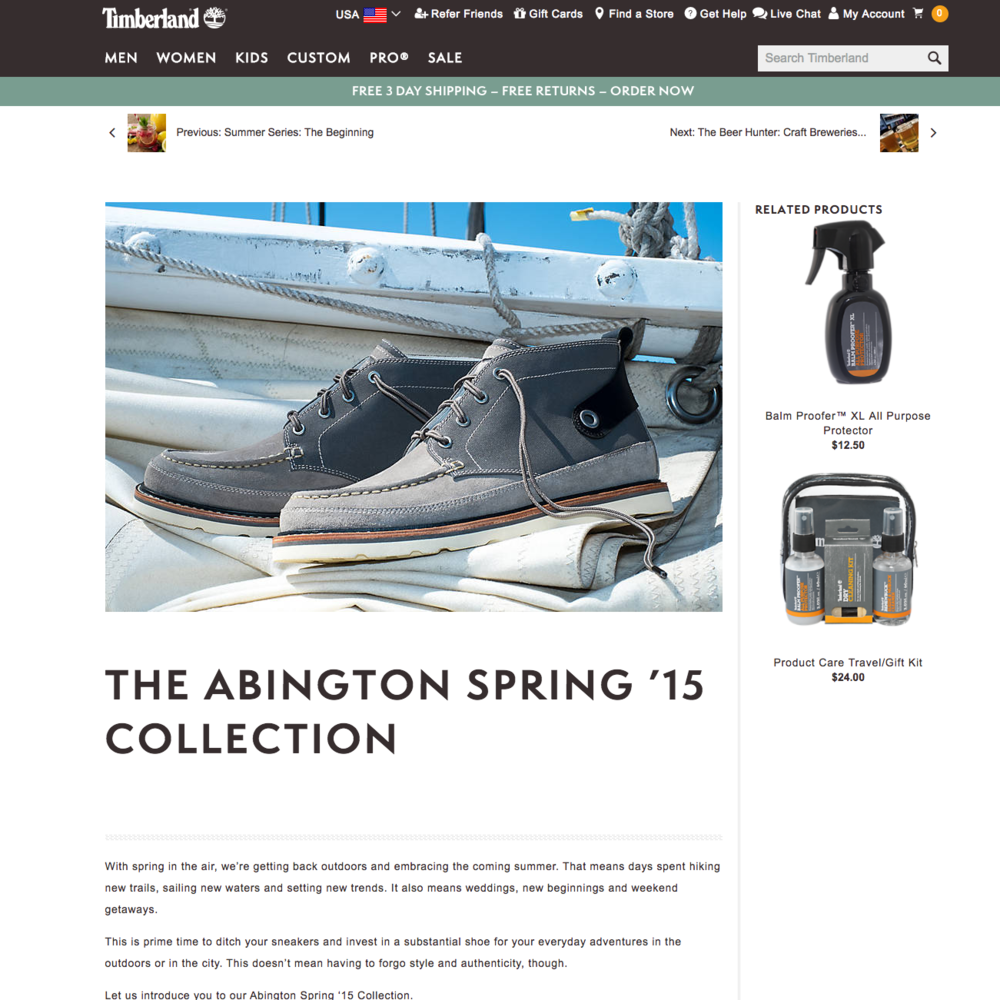 The Abington Spring '15 Collection