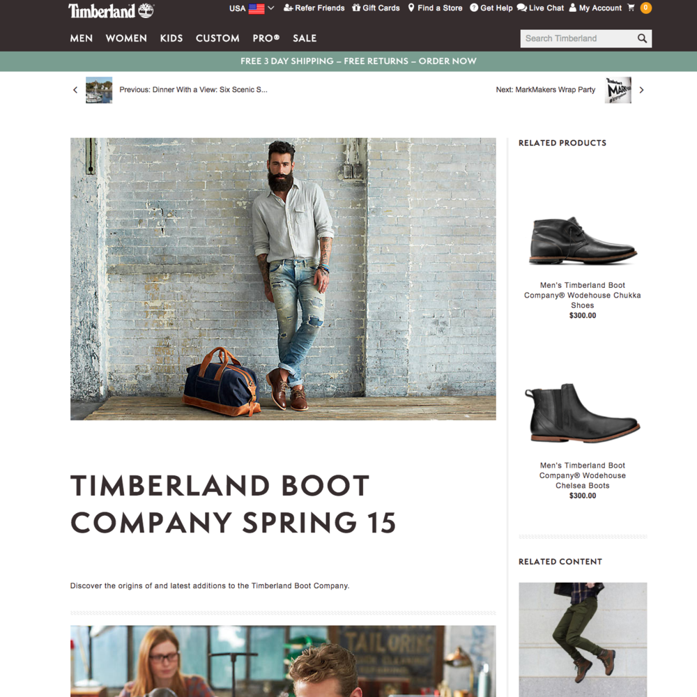 Timberland Boot Company Spring '15