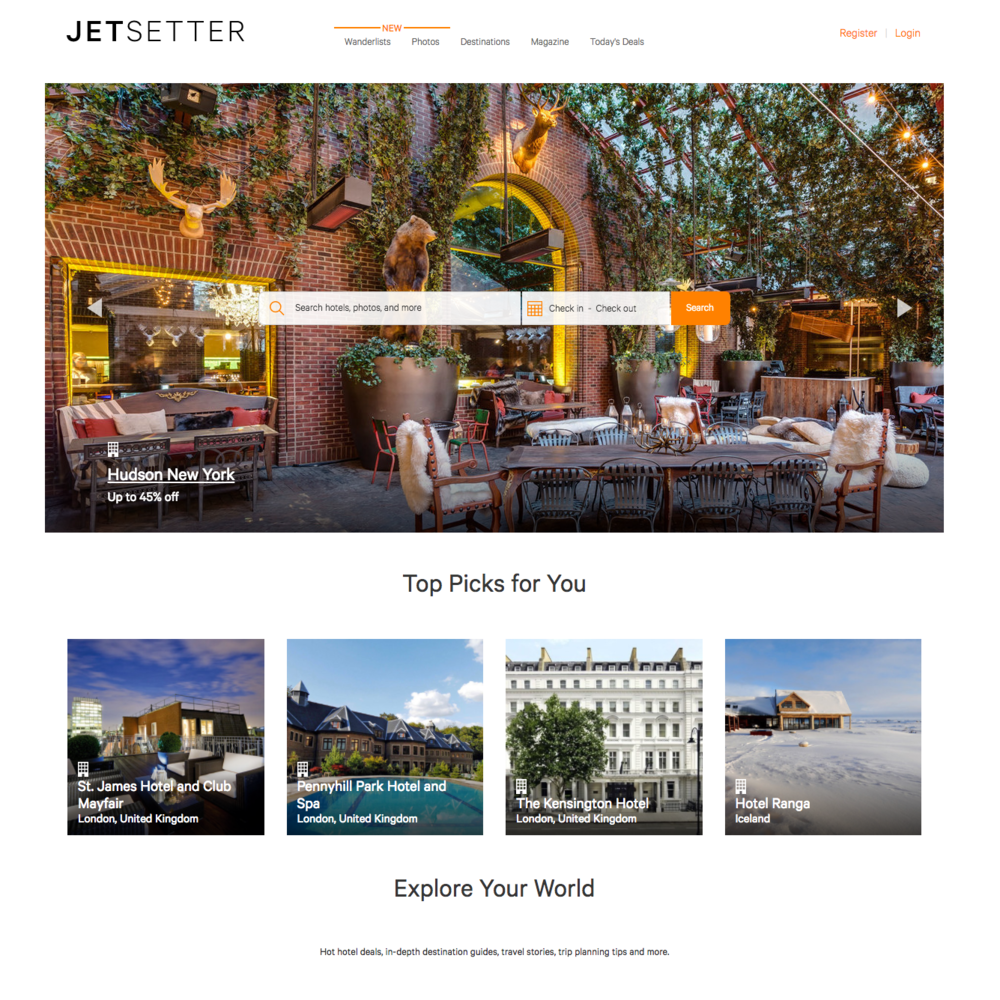 Curator and guide writer for Jetsetter