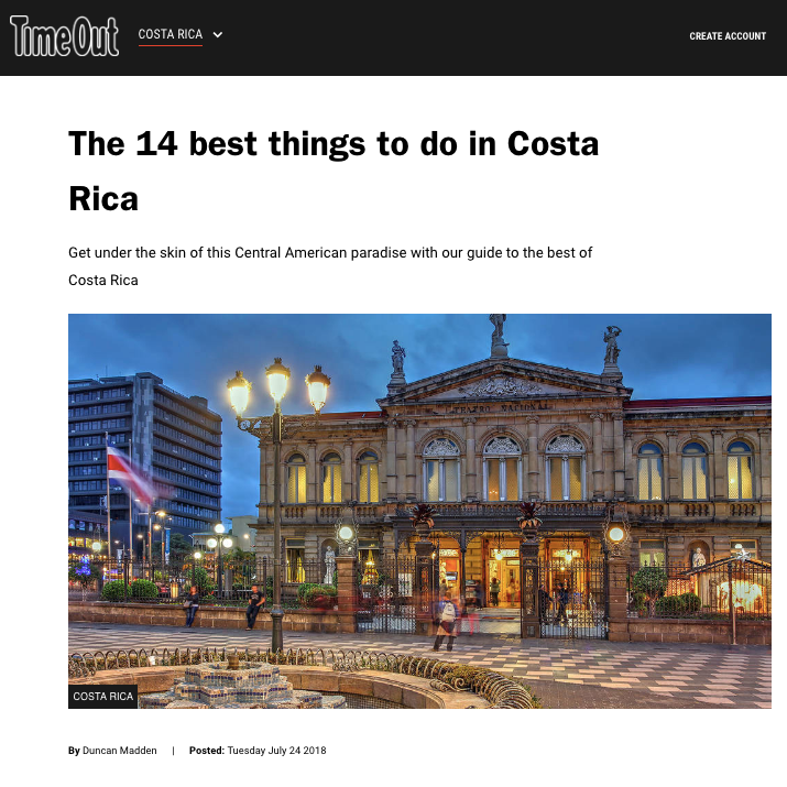 14 things to do in Costa Rica | Time Out