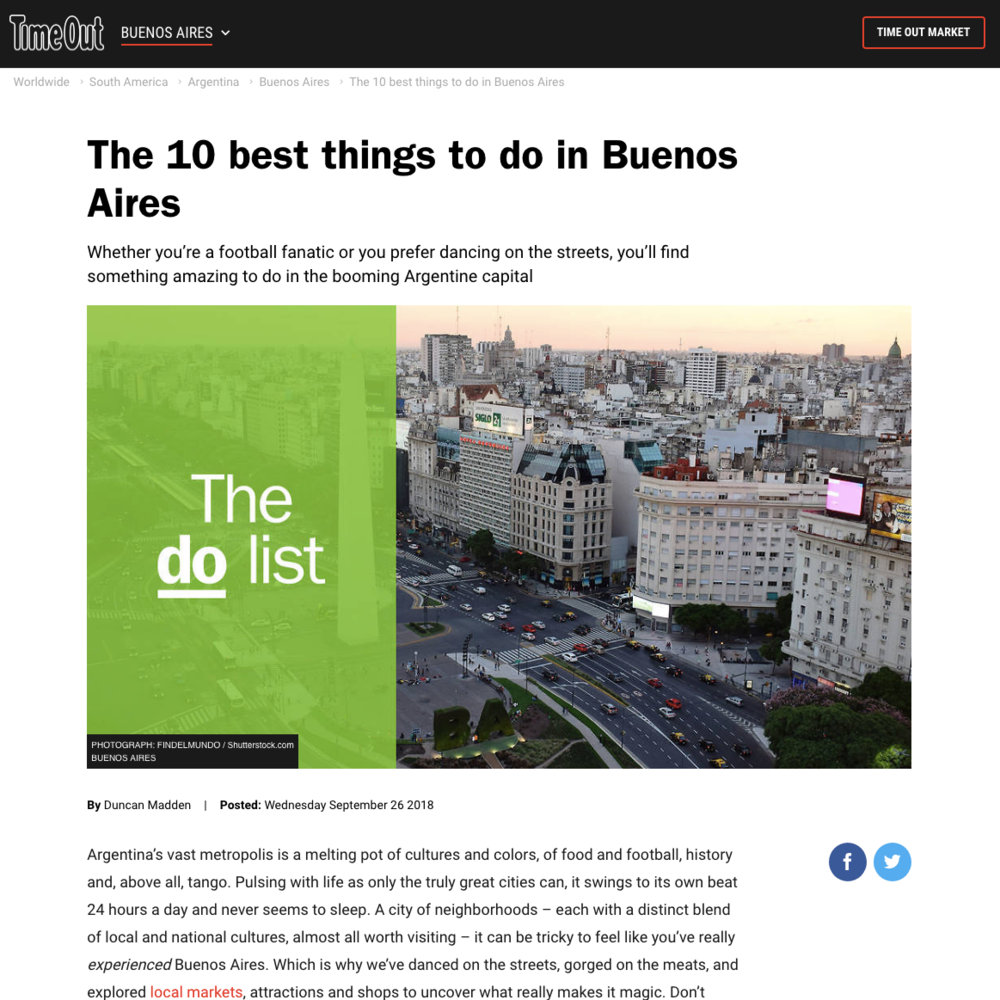 10 things to do in Buenos Aires | Time Out