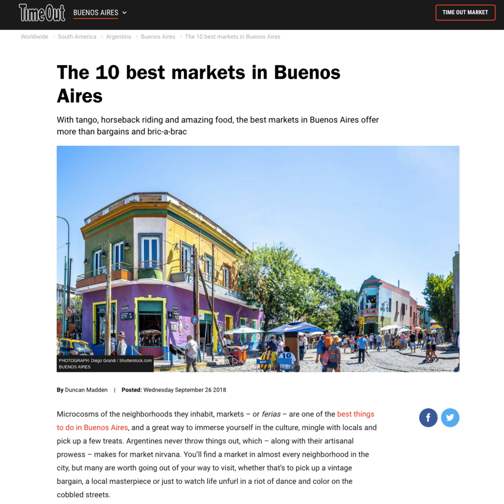 10 best markets in Buenos Aires | Time Out