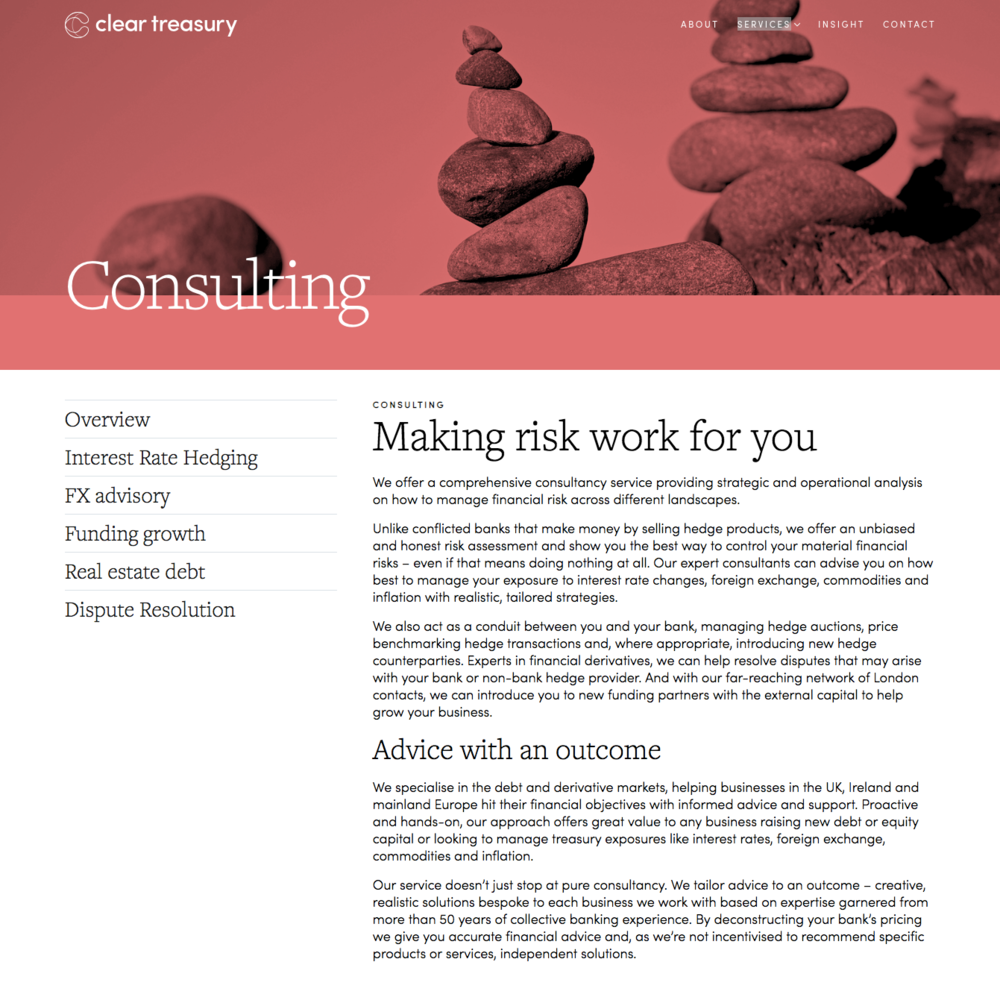 Consulting services page