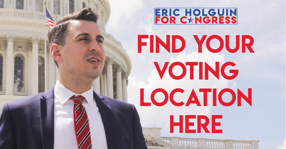 CLICK ABOVE TO FIND YOUR VOTING LOCATION.