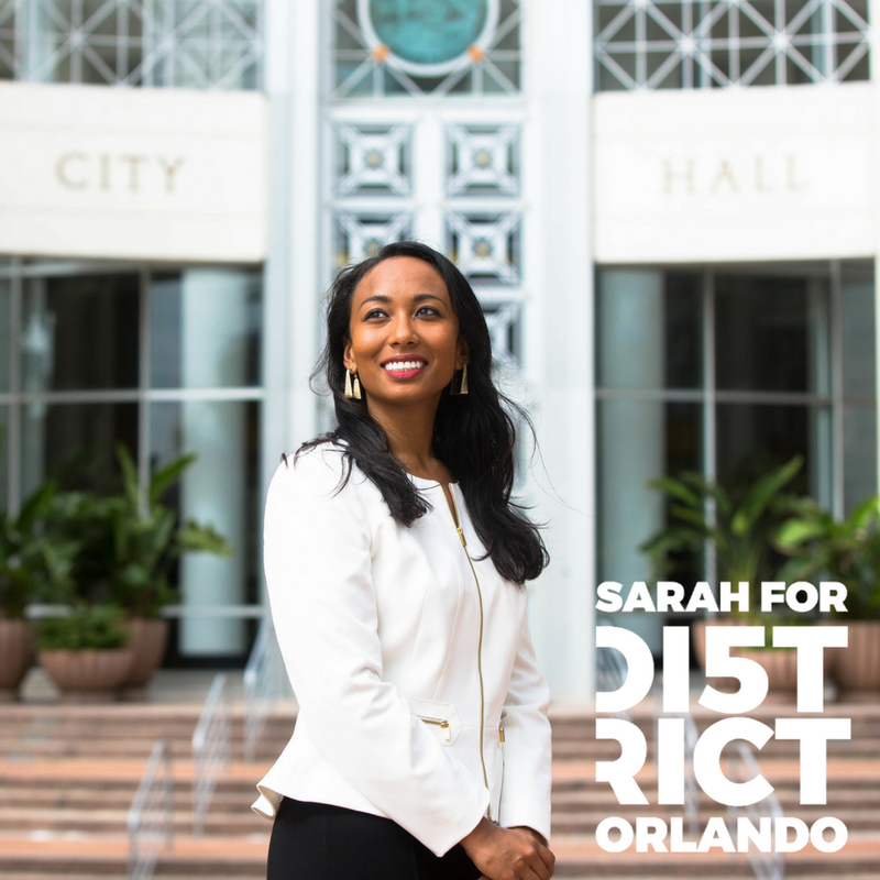 Voter's Guide - Sarah's got new ideas and fresh perspective to bring to City Hall.Read the responses she provided for League of Women Voters 2017 City of Orlando - District 5 Voter's Guide.