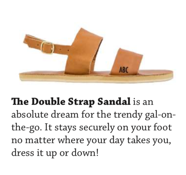 Custom Double Strap Sandals - AVAILABLE IN SIZES 5-11.BASE PRICE STARTING AT $99.99
