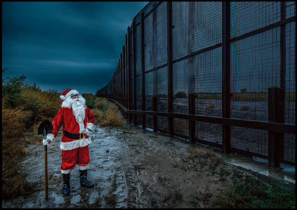 Washington Post: Here is Santa Claus at a border fence. He wants you to 'choose your own metaphor.' - December 21, 2016