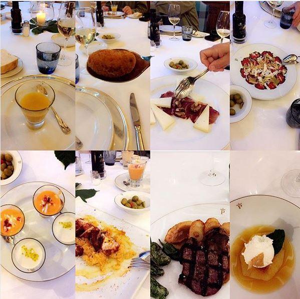 MINI REISEBREV FRA CHINCÓN: Når dette er ett måltid. 😆 Gårsdagens middag på  paradoren i Chinchón, Spania . Nydelig mat og superbra service i vakre omgivelser. Reiser du til denne byen er det her du bør overnatte — og nyte en bedre middag. 😋 Foto: Hedda Bjerén