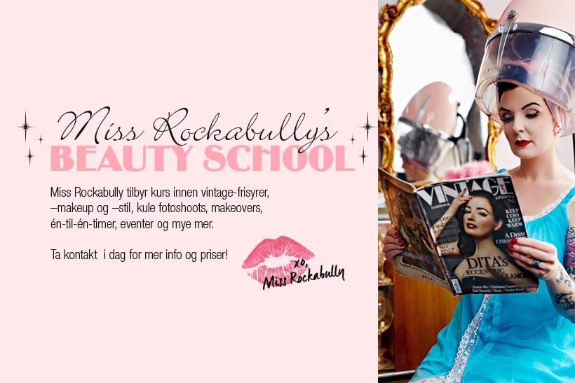 MISS ROCKABULLYS BEAUTY SCHOOL: Vinn hår- og makeup-kurs!. Foto: Miss Rockabully