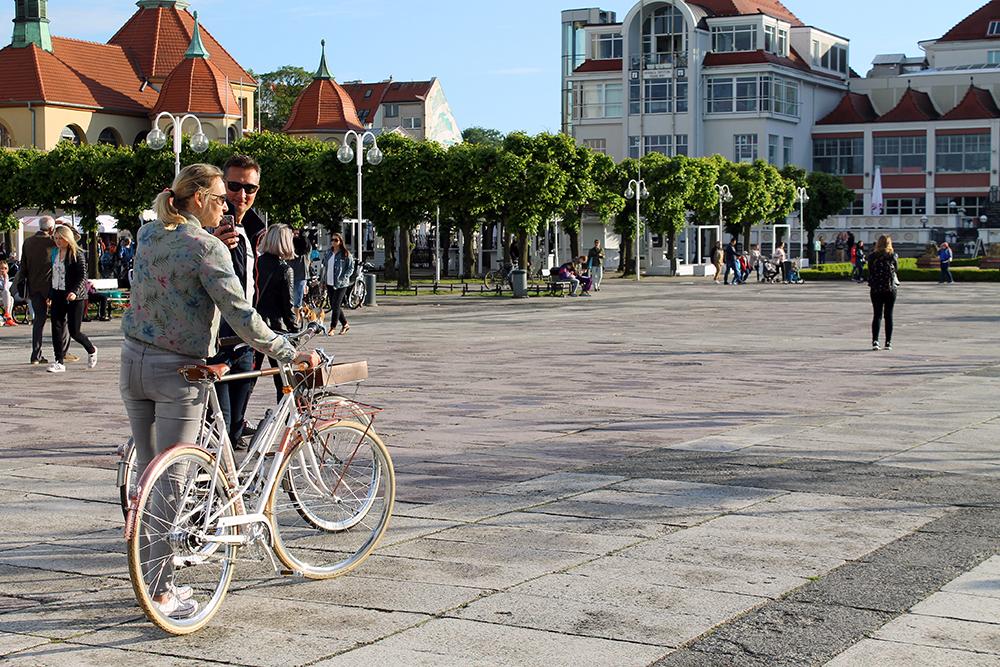SYKKEL I SOPOT: Sopot er flatt og fint. Lei sykkel, så kommer dere dere kjapt til og fra hotellet og stranden. Foto: Hedda Bjerén