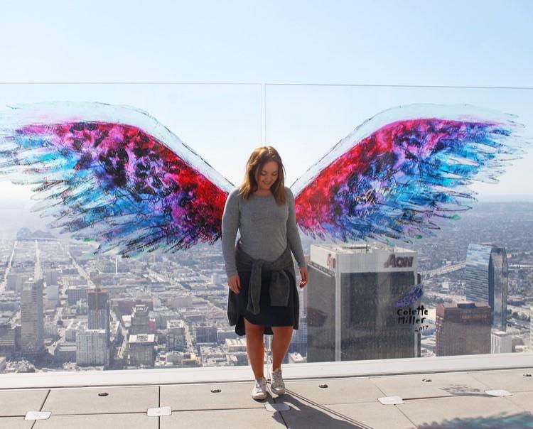 TENK KOFFERT I LOS ANGELES: Her er jeg, på toppen av englenes by. Foto: Tenkkoffert.com