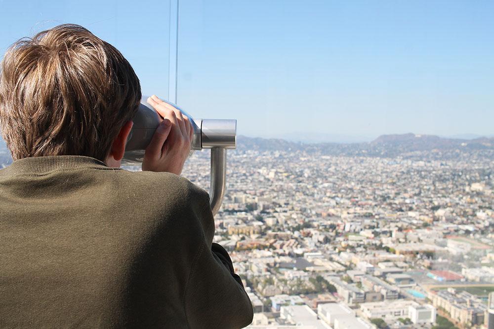 LENGER ENN LANGT: Utsikten fra US Bank Tower er uslåelig. Foto: Hedda Bjerén