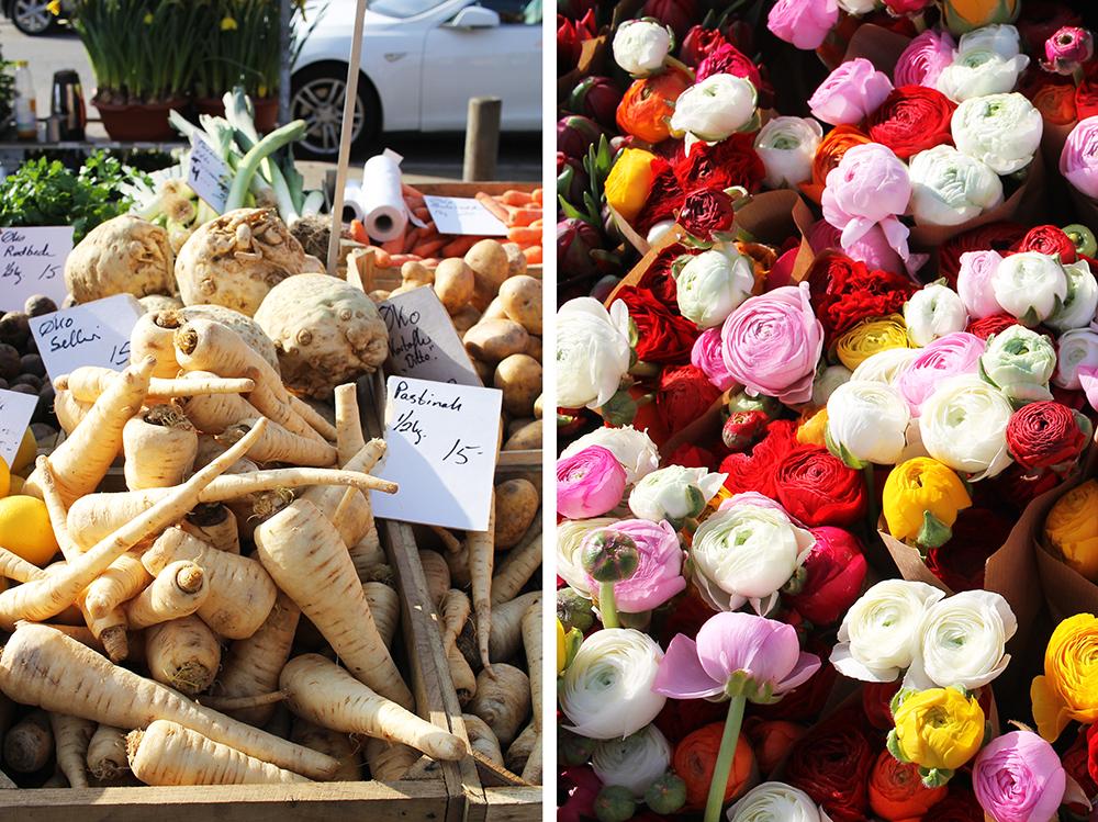 INGERSLEVS BOULEVARD: På dette markedet selges fersk frukt, grønnsaker og blomster. Og mye annet. Foto: Hedda Bjerén