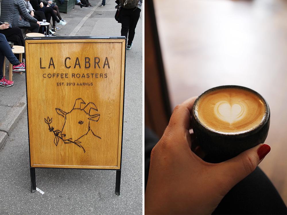 LA CABRA: Her får du Aarhus beste kaffe. Det er koselig å sitte både ute og inne. Foto: Hedda Bjerén