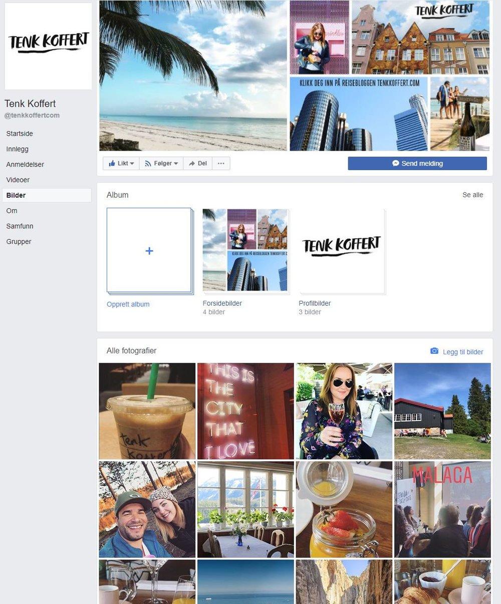 TENK KOFFERT PÅ FACEBOOK: På Tenk Kofferts Facebook-side får du små og store reisetips. Foto: Faksimile