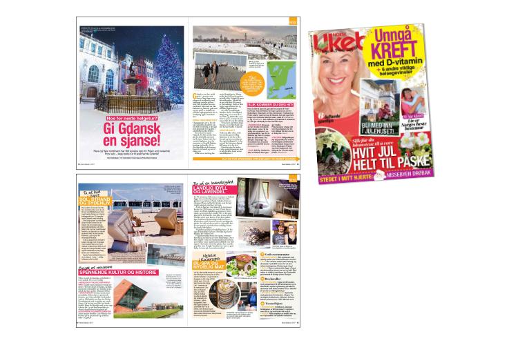Norsk Ukeblad nr. 50 2017 - I utgave nr. 50 av Norsk Ukeblad,som var i butikkhyllene i desember 2017 hadde jeg en reportasje om Gdansk og nærliggende byer på trykk. Noe av den teksten er gjengitt her,her,her,herog her.