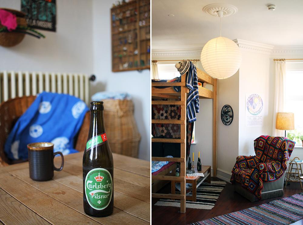 70-TALLS: Disse bildene tok jeg inne i 70-tallskollektivet. Det er en hel bygård du kan gå inn i her, med flere forskjellige leiligheter. Veldig kult! Foto: Tenk Koffert