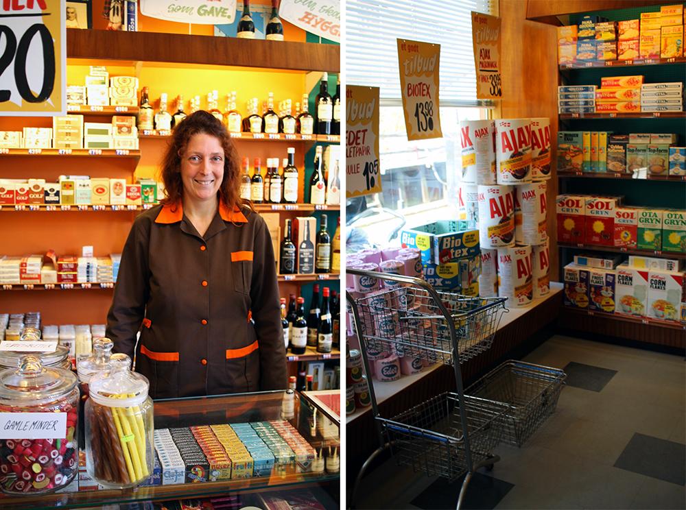 MATBUTIKK FRA 70-TALLET: Sånn så matbutikkene ut åp begynnelsen av 80-tallet og, så dette vekker gamle barndomsminner for meg. Foto: Tenk Koffert