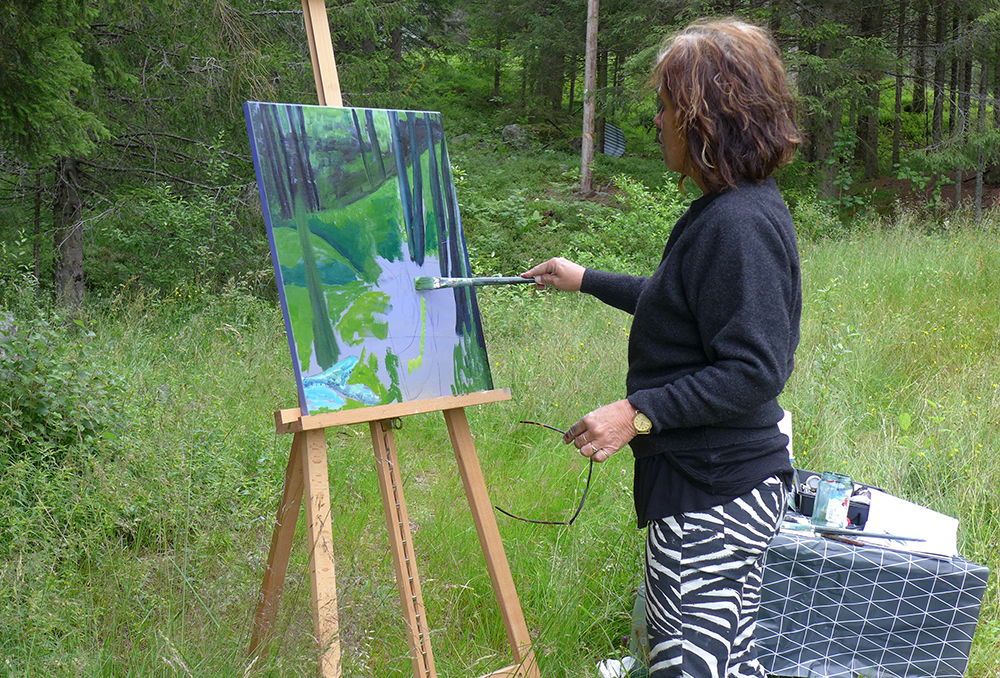 MALEKURS: Bli med på malekurs hos Nutheim Gjestgiveri. Foto: Nutheim