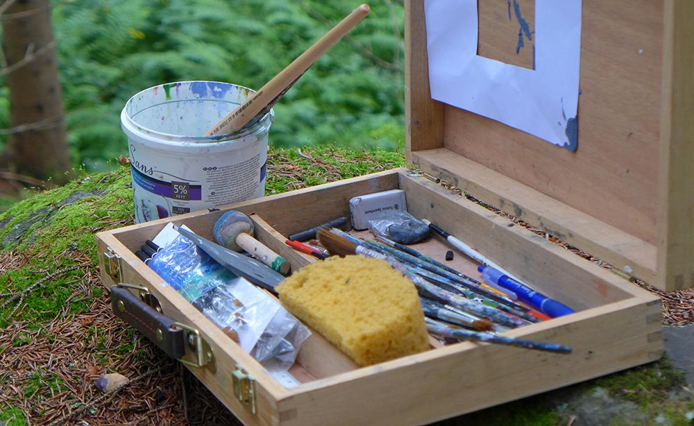 MALEKURS: Det høres herlig ut å være med på malekurs ute i naturen! Foto: Nutheim