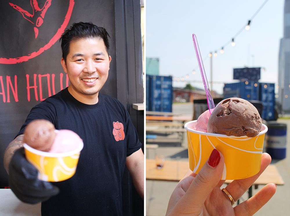 IS I SOLA: Jeg avsluttet besøket med en is fra  Mr. Phan . Foto: Tenk Koffert