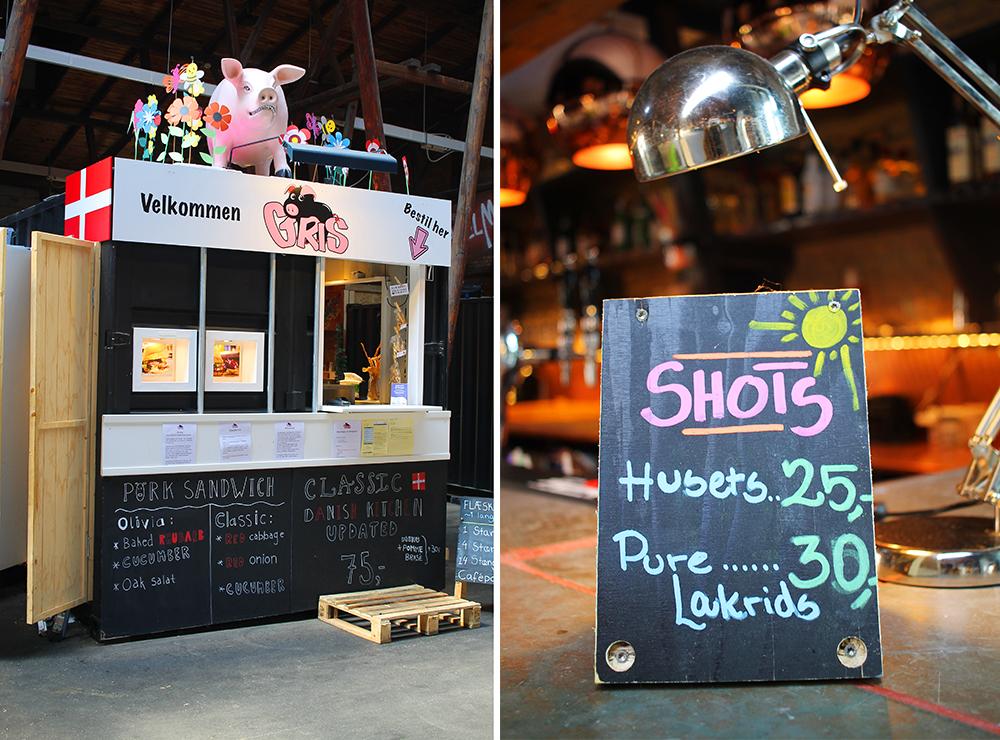 STORMS PAKHUS: Pork sandwich? Fleskesvor? Eller hva med en shot?Foto: Tenk Koffert