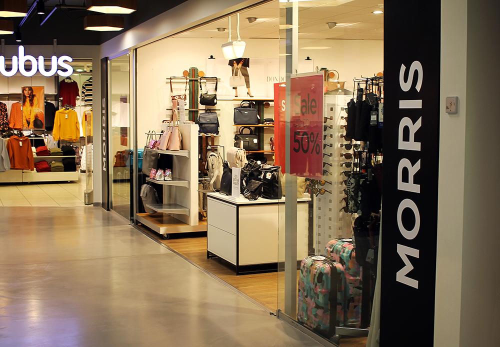 MORRIS I LILLESTRØM: Du finner butikken inne på senteret, Lillestrøm Torv. Butikken ligger påbakkenivå, rett ved siden av Cubus. Foto: Tenk Koffert