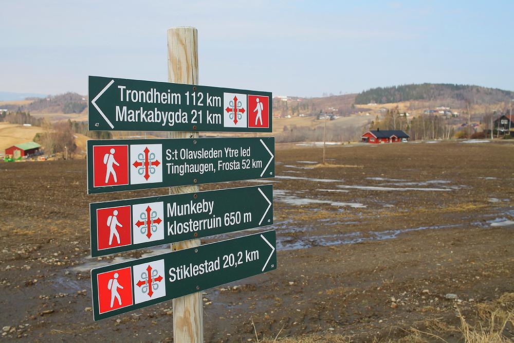 FLOTT TUROMRÅDE: Starter du å gå fra Munkeby, ved Levanger, har du flere fine turer å velge mellom. Foto: Tenk Koffert