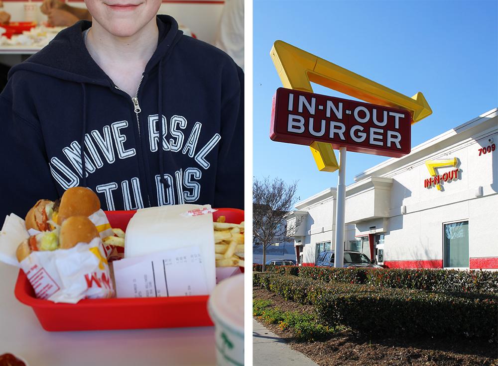 """IN-N-OUT: Innbyggerne i LA er svært stolte av sin lokale burgerkjede. Jeg tror jeg fikk spørsmålet """"Har du testet In-N-Out enda"""" minst fem ganger da jeg besøkte byen for første gang. Foto: Hedda Bjerén"""