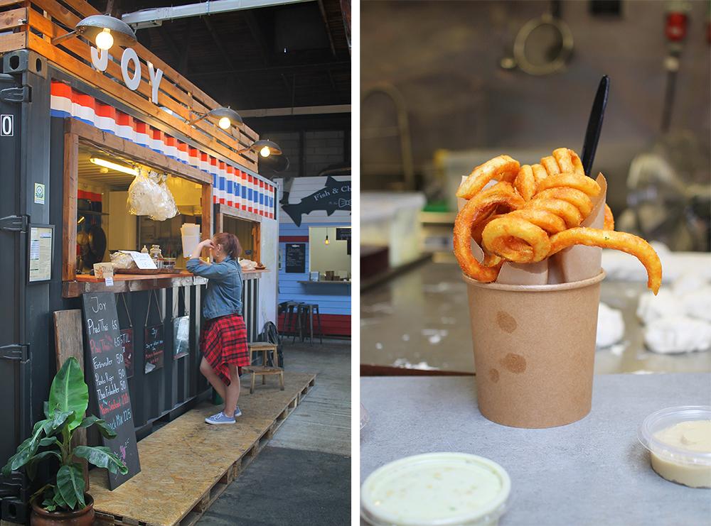 VALGET ER DITT: Enten du vil ha thaimat eller krølle-pommes frites, så finner du det hos Storms! Foto: Tenk Koffert