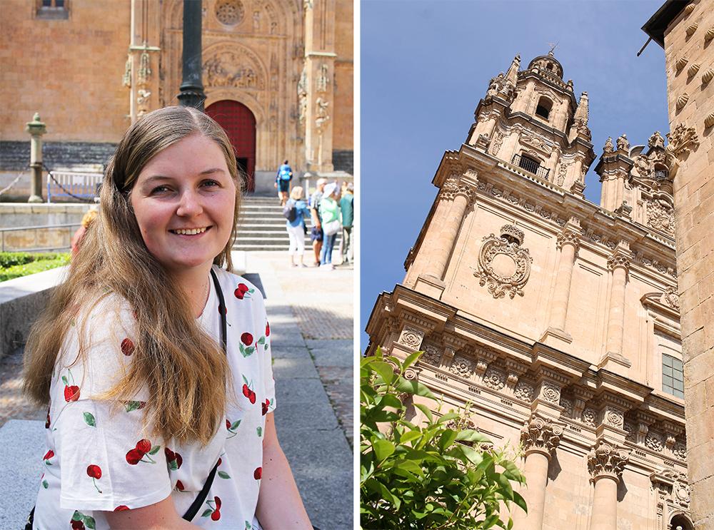 BOR I SALAMANCA: – Jeg blir aldri lei denne byen! Spania har så mye mer å by på enn strender, sier norske Jorunn Bjørnstad (23) som studerer kriminologi ved universitetet i Salamanca. Foto: Tenk Koffert