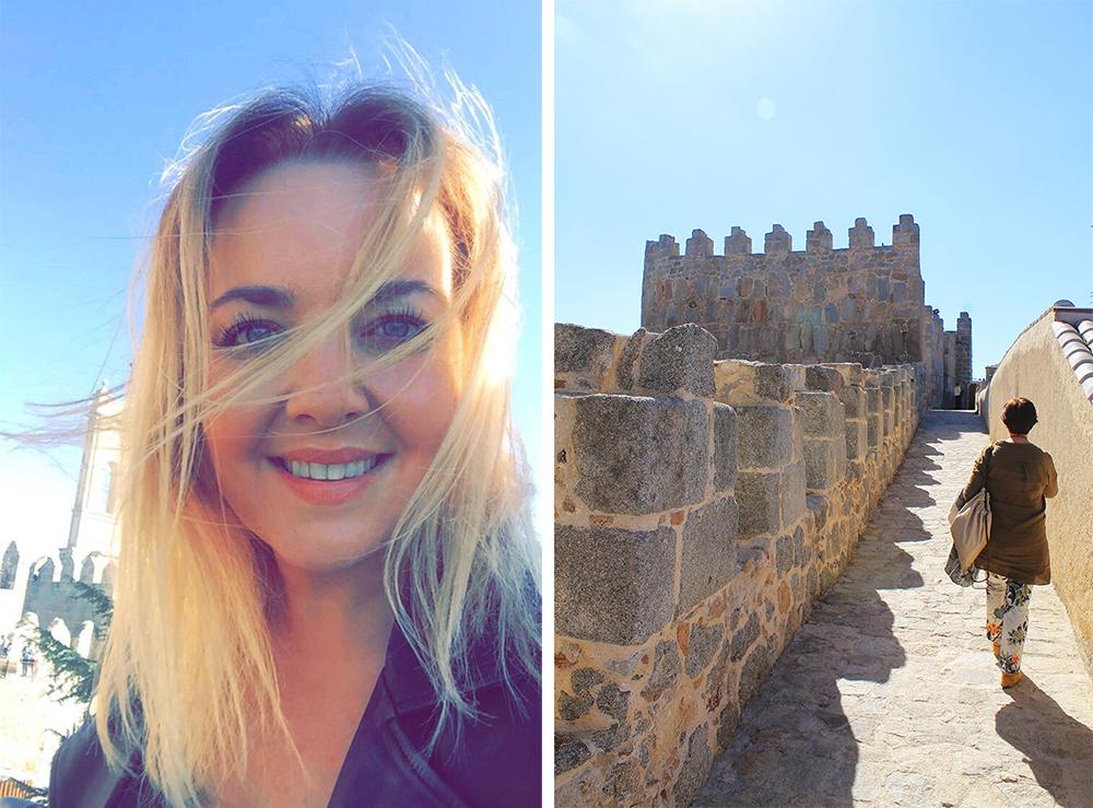 TENK KOFFERT I AVILA: Jeg synes det var en flott opplevelse å gå på bymuren. Foto: Tenk Koffert