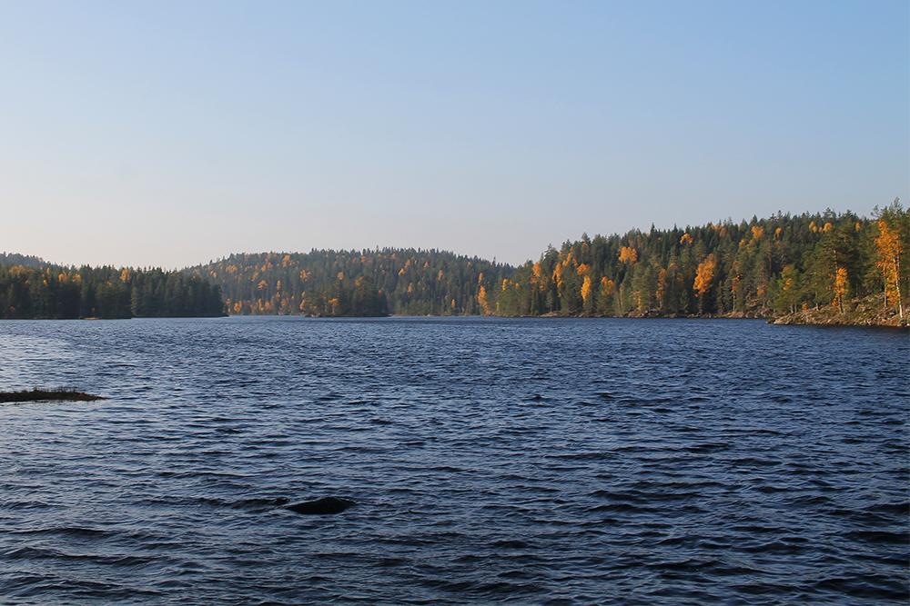 NORDBYSJØEN: Vi bestemte oss for å campe i nærheten av dette vannet. Foto: Tenk Koffert
