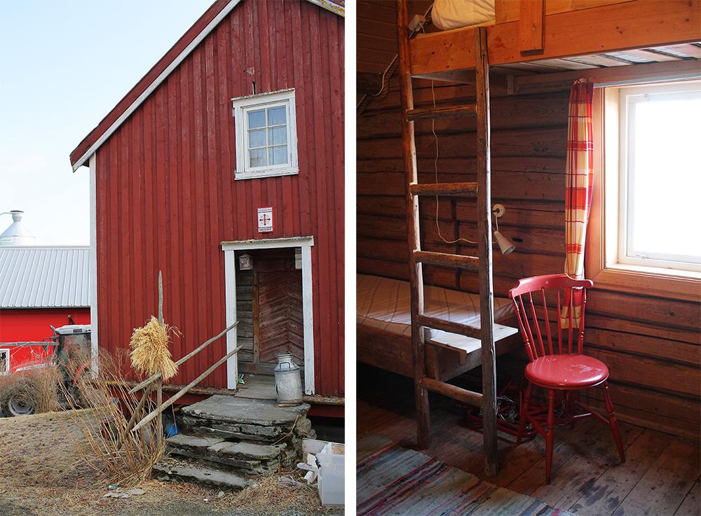 ENKEL STANDARD: Inne i det gamle stabburet fra 1600-tallet kan du overnatte fra kr 160 per natt. Foto: Tenk Koffert