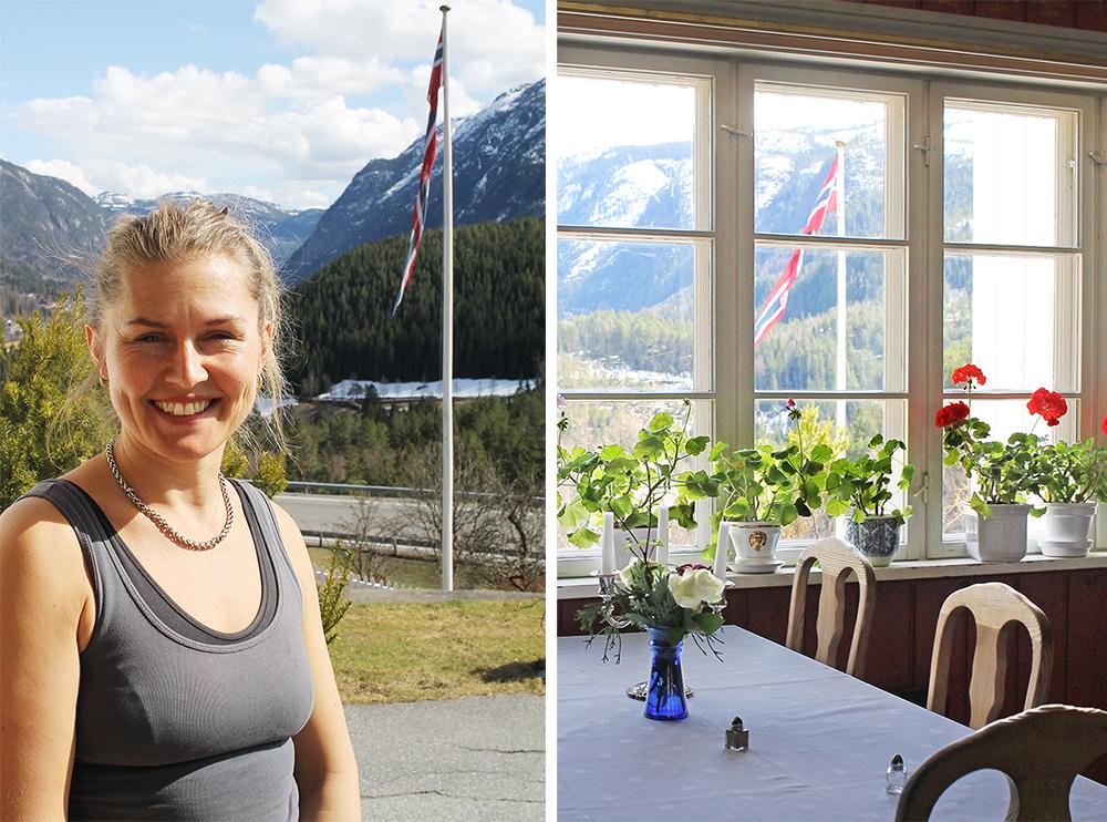 SJEFEN SJØL: Solveig driver Nutheim Gjestgiveri sammen med moren sin, Ellen. Foto: Tenk Koffert