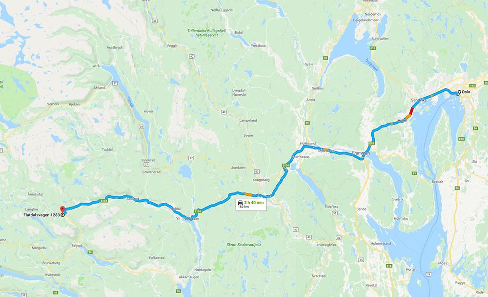 KART: Det er enkelt å finne fram til gjestgiveriet. Foto: Google Maps