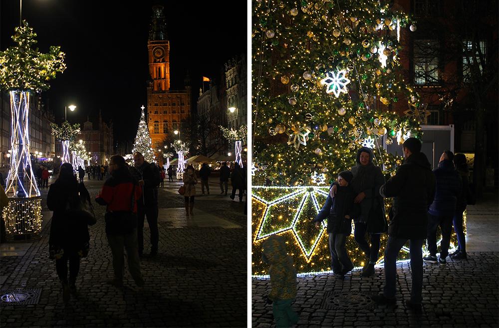 DLUGI TARG: Gdansk mest kjente torg er pyntet til jul. Foto: Tenk Koffert