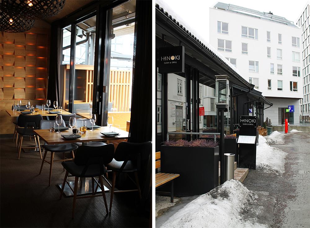 HINOKI: Restauranten ligger ett minutts gange fra Lillestrøm togstasjon, og rett ved den store rundkjøringen som er det første du ser når du kjører inn i byen fra Rælingstunnelen. Foto: Hedda Bjerén