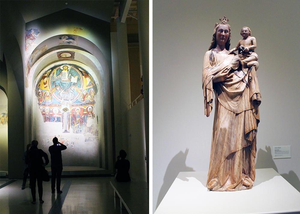 MUSEU NACIONAL D'ART CATALUNYA: På dette museet får du se kunst som stammer helt fra 1100-tallet. Veldig spennende, synes jeg. Foto: Hedda Bjerén