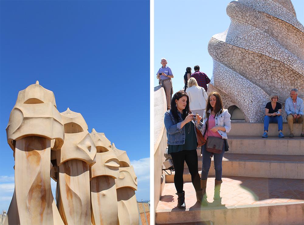 LA PEDRERA: Mange turister besøker dette taket, for å se de flotte statuene og den imponerende utsikten. Foto: Tenk Koffert